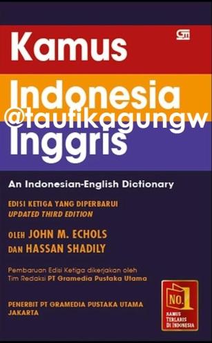 Jual Kamus Indonesia Inggris John M. Echols dan Hassan Shadily