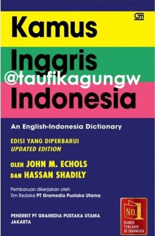 Jual Kamus Inggris Indonesia John M. Echols dan Hassan Shadily